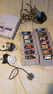 super nintendo bundle snes sale or trade