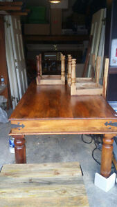 Reclaimed RusticTable with Chairs