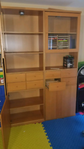2 ikea tall and sturdy shelves for sale