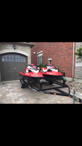 2 Red Seadoos RXP 215 Supercharge
