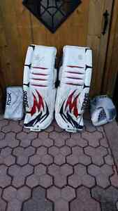 Simmons goalie pads rbk legacy glove and blocker