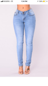 "Fashion Nova ""Always Bossy Skinny Jeans - Medium Wash"""