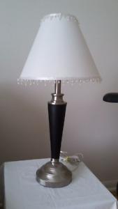 Lampe métal et cuir