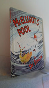 ▀▄▀Dr. Seuss Book Mcelligot's Pool Hardcover/Large//1st Edition