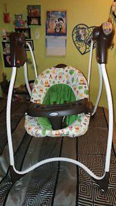 Baby item lot (swing, bouncy seat, playmat and bumbo chair)