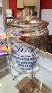 Dryden & Palmer CO Large Vintage looking Display Jar