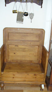 Antique Scandanavian pine bench for sale