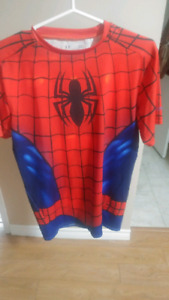 Mens Large Spiderman Under Armour Shirt