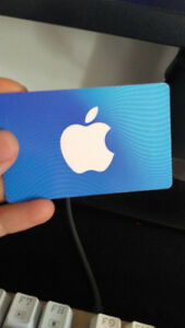 iTunes 15$ gift card [trade for google play or steam card]