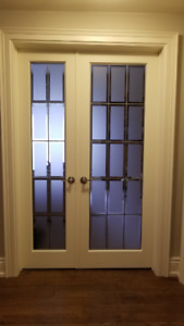 Interior Frame Doors with Decorative Glass