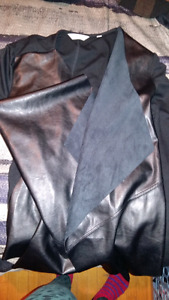 Reitmans Blazer half Leather New $20 OBO
