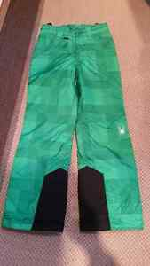 Used Kids girl Spyder ski and snowboard pants sz/age10