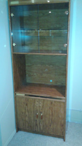 Brown Wooden Wall Unit