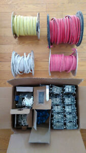 Surplus de matériel électrique (filage, boîtier, etc.)