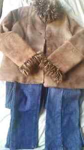 Winter jacket and two jeans pants