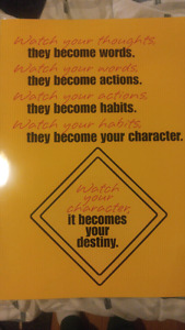 Inspiration Laminated Poster Dreams, Habits, Character, Destiny