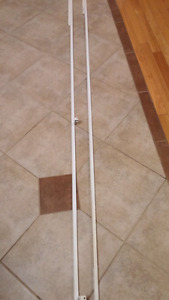 2 fixed length curtain rods for pintuck drapes