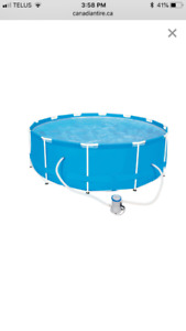 Hydro-Force Steel Pro Frame Pool Set, 12-ft x 39.5-in