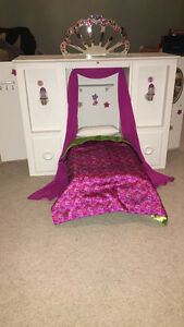 American girl doll murphy bed and wardrobe