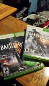 Battlefield 3, and 4 xbox 360