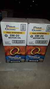 Four boxes of 5w-20 full synthetic ,24bottles  Kitchener / Waterloo Kitchener Area image 1