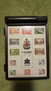 1867-1967 Canada Centennial Issue Stamp Case Box with Stamps