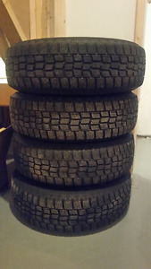 195/70/R14 - USED DUNLOP WINTER TIRES WITH RIMS