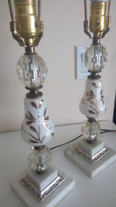 Stunning Two Vintage Decorative Table Lamps