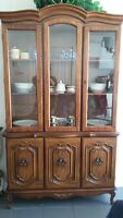 ****Must Go- Antique Hutch buffet Replicate- price to sell