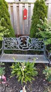 Cast iron bench Kitchener / Waterloo Kitchener Area image 1