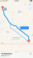 Need to catch a ride from Saskatoon to Estevan