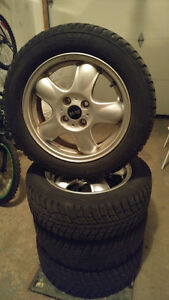 Mini Cooper winter tires 195/55/15 with rims