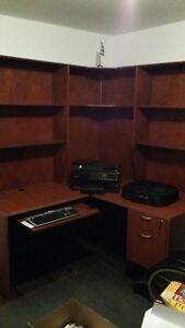 Bureau de travail et bibliothèque