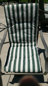 6 Patio chair cushions only