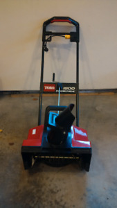 Toro Snow Thrower - electric