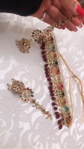 Brand new Navratri choker with earrings