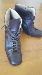 Beautiful designer leather boot/shoe ladies PIED A TERRE (Italy)