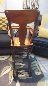 Antique High Chair/Push Cart Kingston Kingston Area image 5