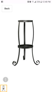 Partylite Rustic Scroll Floor Stand