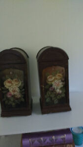 Set of 2 hand painted storage boxes