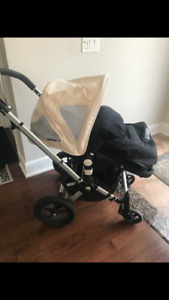Bugaboo stroller with accessories