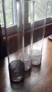 3 -12 inch tall vases