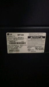 LG 50pt TV and Samsung home theater