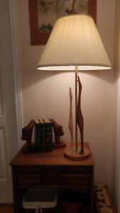 Awesome retro mid century teak wood lamp