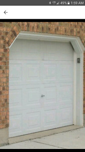 9 by 7 Garage door with opener