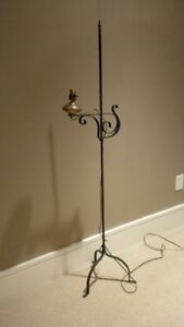 Antique FLOOR LAMP - Wrought Iron