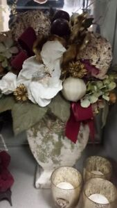 Matching pair of Silk Flower Arrangements for sale