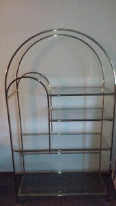$145 obo!!! Beautiful Glass shelving unit must go!!!