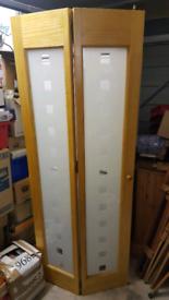 Folding glazed door