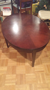 Large oval coffee table